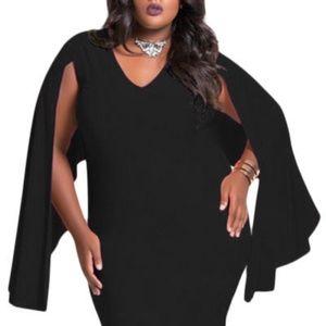 Dresses & Skirts - Black Cape Dress